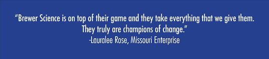 Quote from Lauralee Rose, Missouri Enterprise
