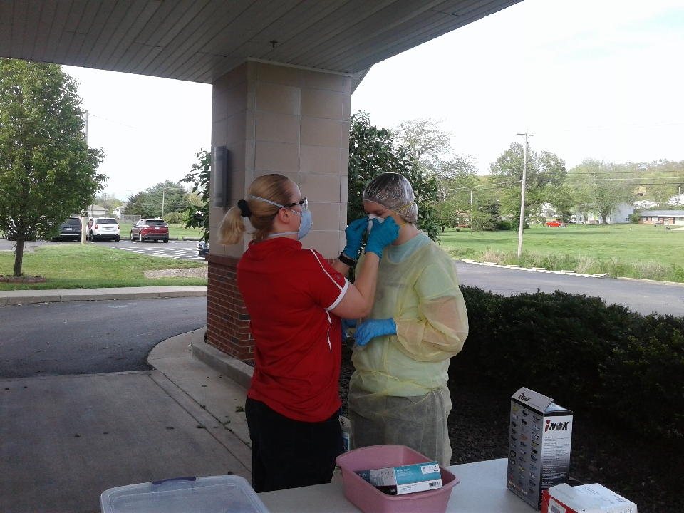Lori Calderas, Industrial Hygienist, provided Fit Test Training for PPE and N95 masks at a local nursing home as part of their preparation for COVID-19.