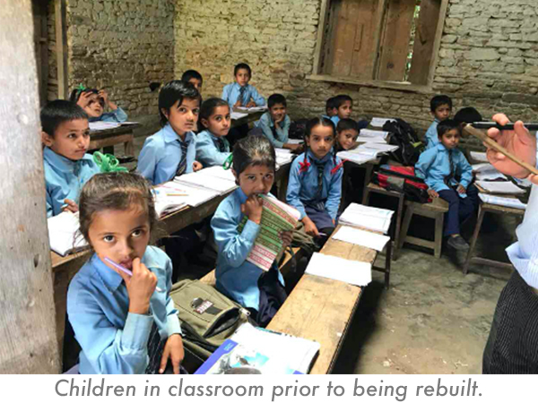 Assisting a school in Nepal after a disaster